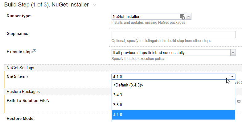nuget.exe install package command line